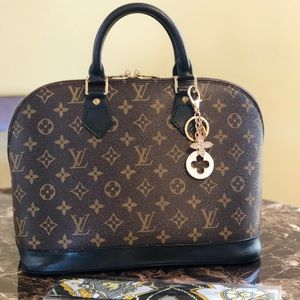 Authentic Louis Vuitton Alma PM Black